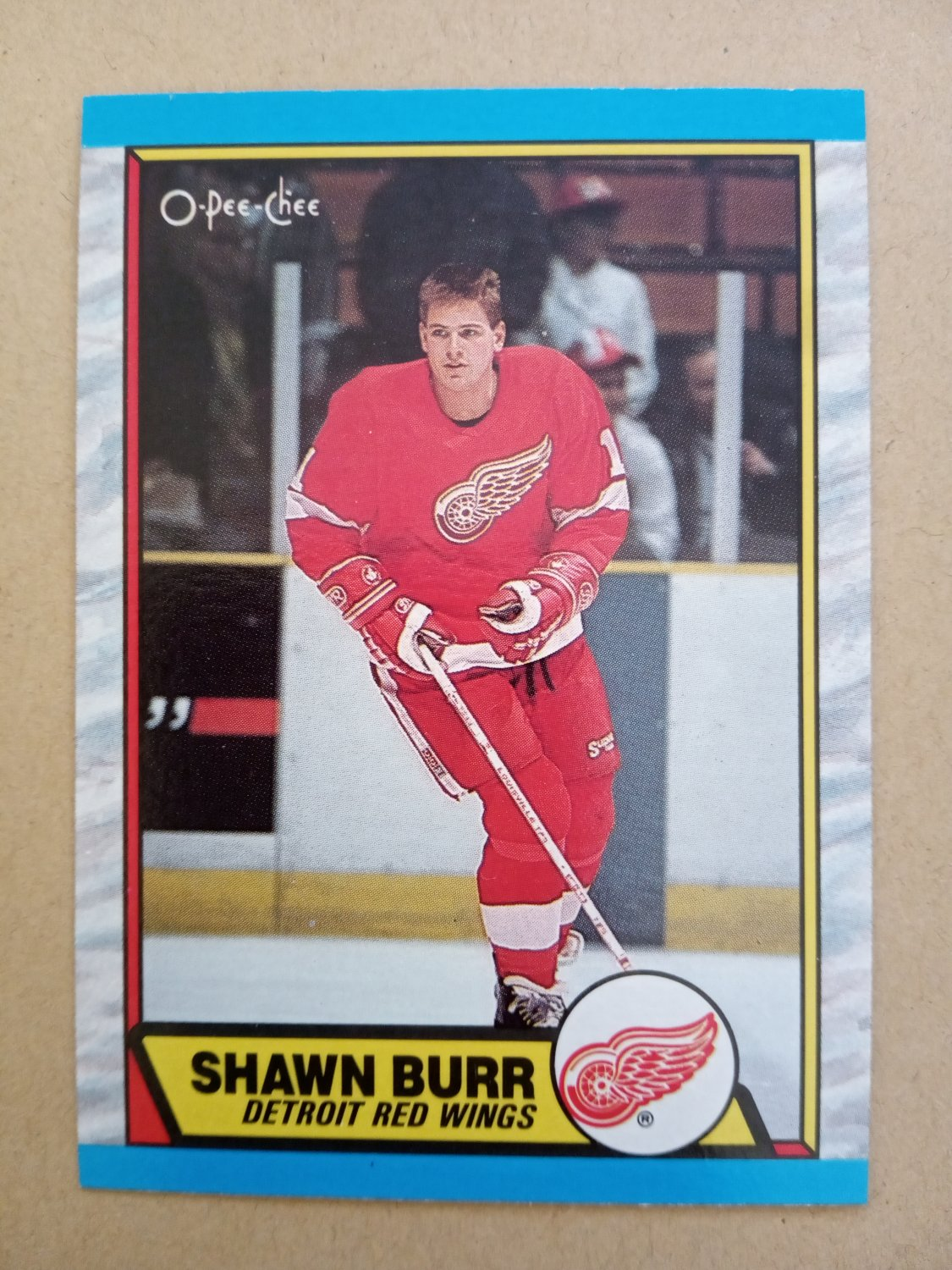 1989-90 O-Pee-Chee #101 Shawn Burr Detroit Red Wings