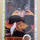 1989-90 O-Pee-Chee #178 Greg Adams Vancouver Canucks