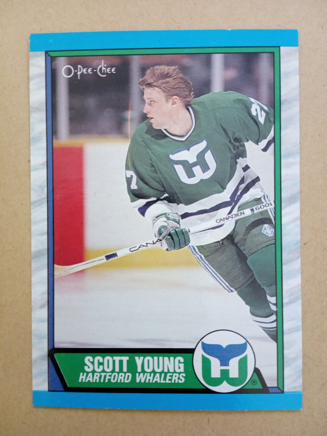 1989-90 O-Pee-Chee #209 Scott Young Hartford Whalers Rookie