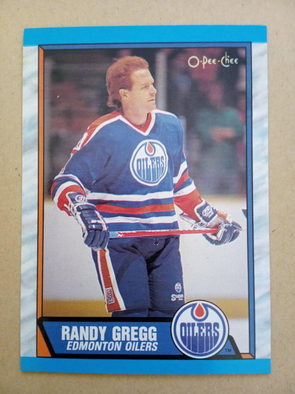 1989-90 O-Pee-Chee #229 Randy Gregg Edmonton Oilers