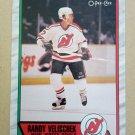 1989-90 O-Pee-Chee #245 Randy Velischek New Jersey Devils
