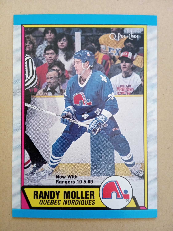 1989-90 O-Pee-Chee #259 Randy Moller Quebec Nordiques