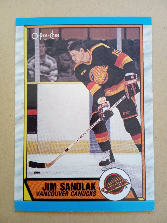 1989-90 O-Pee-Chee #267 Jim Sandlak Vancouver Canucks