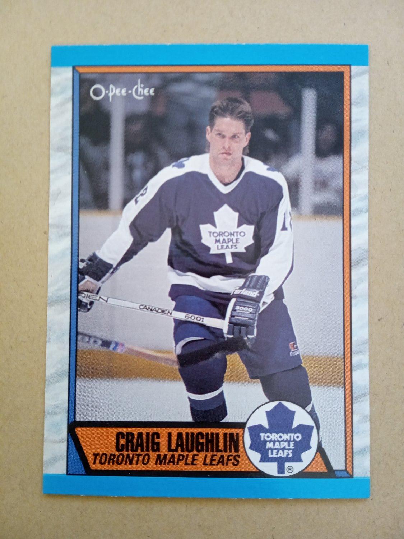 1989-90 O-Pee-Chee #275 Craig Laughlin Toronto Maple Leafs