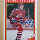 1991-92 O-Pee-Chee Sharks & Russians Inserts #19R Igor Kravchuk Central Red Army