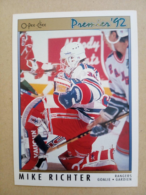 1991-92 O-Pee-Chee Premier #78 Mike Richter New York Rangers