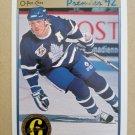 1991-92 O-Pee-Chee Premier #134 Gary Leeman Toronto Maple Leafs