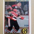 1991-92 O-Pee-Chee Premier #159 John Tonelli Chicago Blackhawks