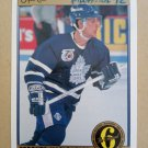 1991-92 O-Pee-Chee Premier #160 Robert Cimetta Toronto Maple Leafs