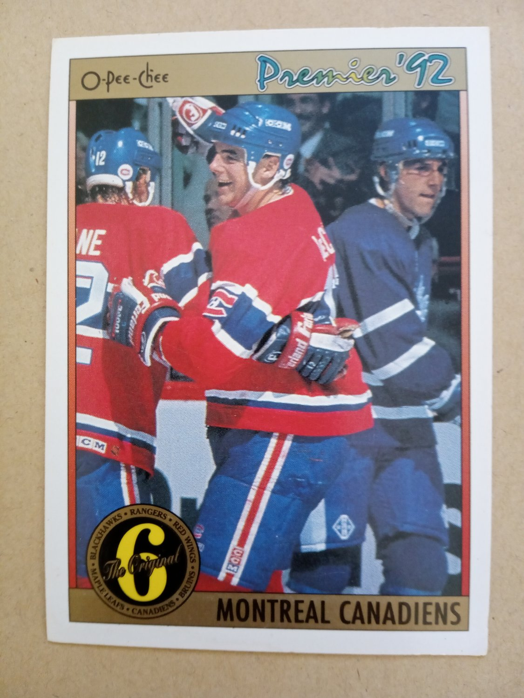 1991-92 O-Pee-Chee Premier #186 John LeClair Montreal Canadiens