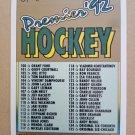 1991-92 O-Pee-Chee Premier #198 Checklist 100-198