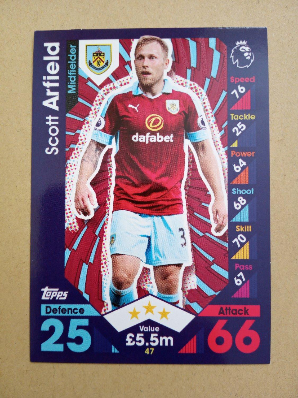 2016-17 Topps Match Attax Premier League #47 Scott Arfield Burnley