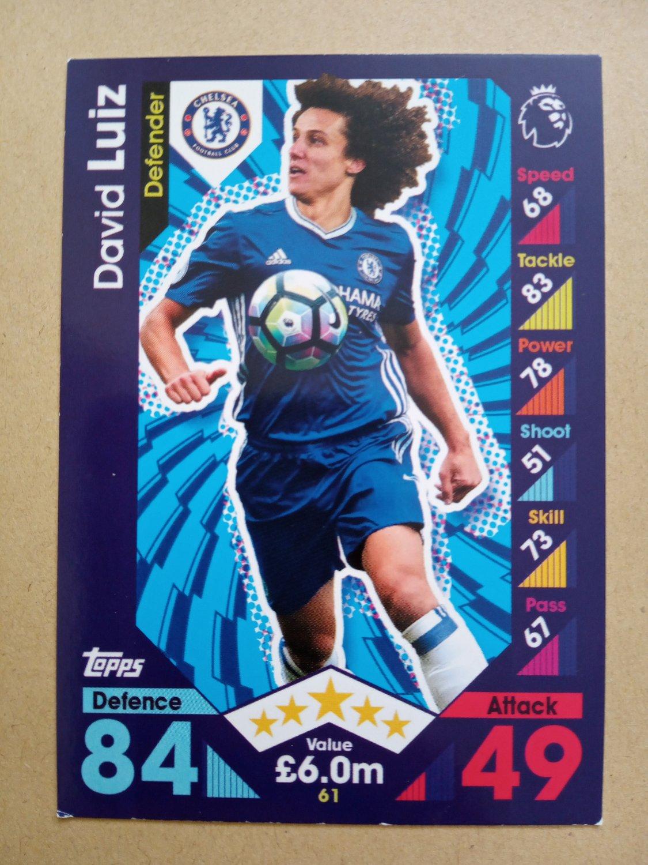 2016-17 Topps Match Attax Premier League #61 David Luiz Chelsea