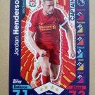 2016-17 Topps Match Attax Premier League #154 Jordan Henderson CAPT Liverpool