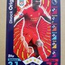 2016-17 Topps Match Attax Premier League #161 Divock Origi Liverpool