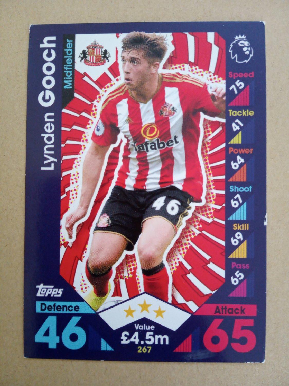 2016-17 Topps Match Attax Premier League #267 Lynden Gooch Sunderland
