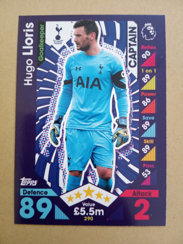 2016-17 Topps Match Attax Premier League #290 Hugo Lloris CAPT Tottenham Hotspur