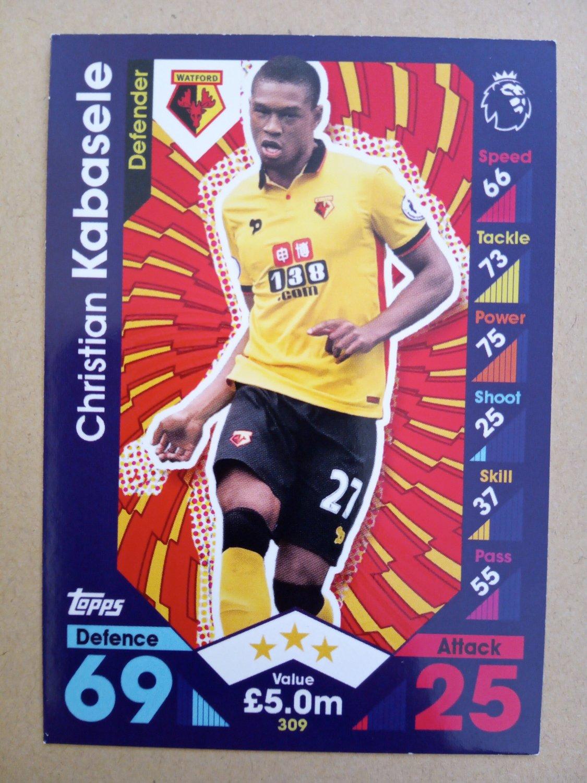 2016-17 Topps Match Attax Premier League #309 Christian Kabasele Watford