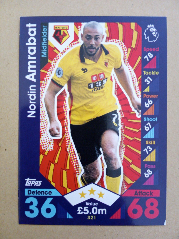 2016-17 Topps Match Attax Premier League #321 Nordin Amrabat Watford