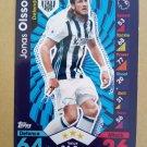 2016-17 Topps Match Attax Premier League #330 Jonas Olsson West Bromwich Albion
