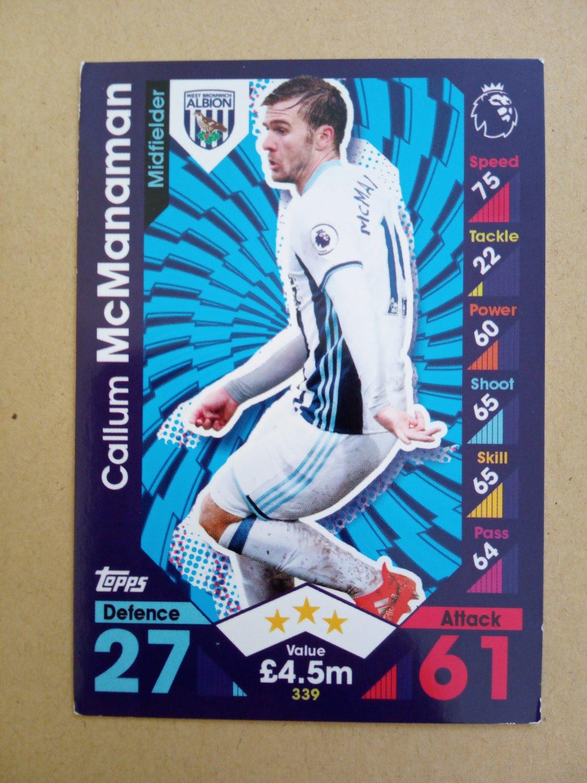 2016-17 Topps Match Attax Premier League #339 Callum McManaman West Bromwich Albion