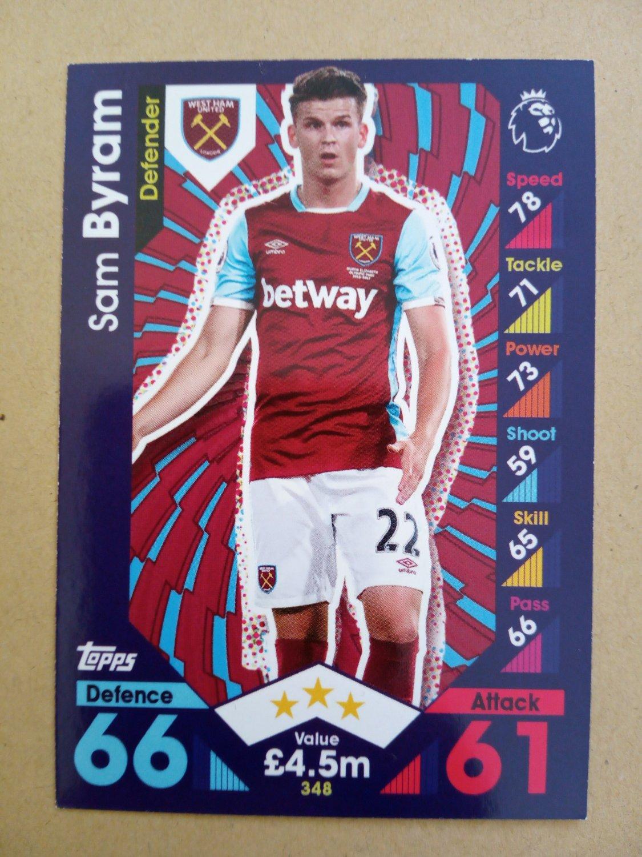 2016-17 Topps Match Attax Premier League #348 Sam Byram West Ham United