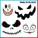 4 face Jack and Sally Face Svg file, Nightmare Before Christmas