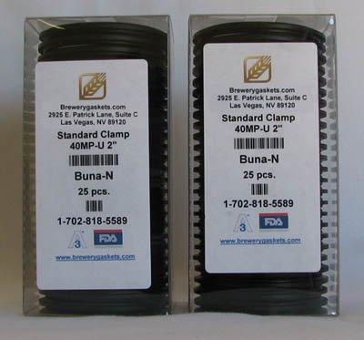 """Box/25 Buna-N 2"""" Tri Clamp Gaskets"""