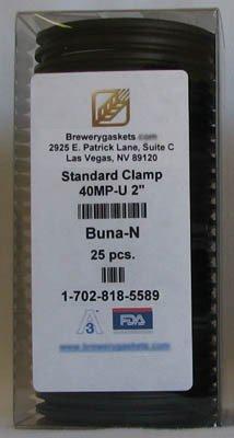 "BOX OF 25 TRI CLAMP TC GASKETS BUNA 2"" NIB SANITARY"