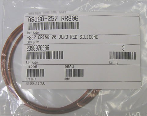 """FDA SILICONE O-RINGS 458 QTY 1 14-1/2"""" ID X 15"""" OD"""