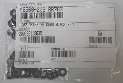 "VITON O-RINGS 010 SIZE BAG OF 100 1/4"" ID X 3/8"" OD"