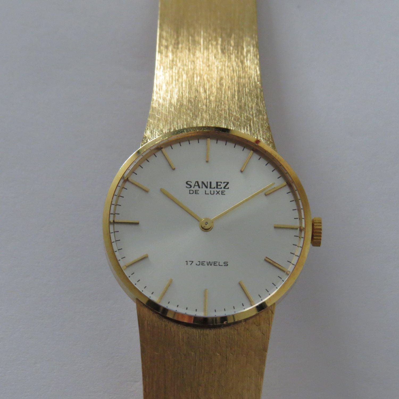 Watch SANLEZ New 17J Elegant classic Vintage NOS Gold plated