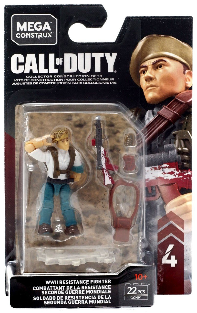 MEGA CONSTRUX CALL OF DUTY WWII RESISTANCE FIGHTER GCN91 - SHIPS WORLDWIDE