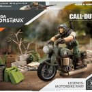MEGA CONSTRUX CALL OF DUTY WWII LEGENDS MOTORBIKE RAID FXW78 - SHIPS WORLDWIDE