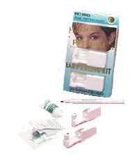 MediSept Personal Ear Piercing Kit w/ Gold Crystal Piercing Studs