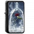 Disney Beauty Beast Art Illustration - Electronic Windproof USB Electric Lighter - Rechargeable