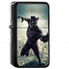 Marvel Hero Black panther Illustration - Electronic Windproof USB Electric Lighter - Rechargeable