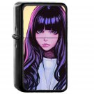 Ilya Juvshinov Girl Purple - Electronic Windproof USB Electric Lighter - Rechargeable