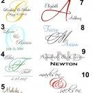 Custom Wedding Monogram Design Service
