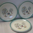 "Brock Forever Yours Bread & Butter Plates 6 3/4"" Three Total"