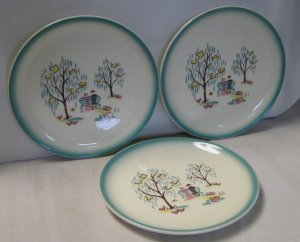 """Brock Forever Yours Bread & Butter Plates 6 3/4"""" Three Total"""