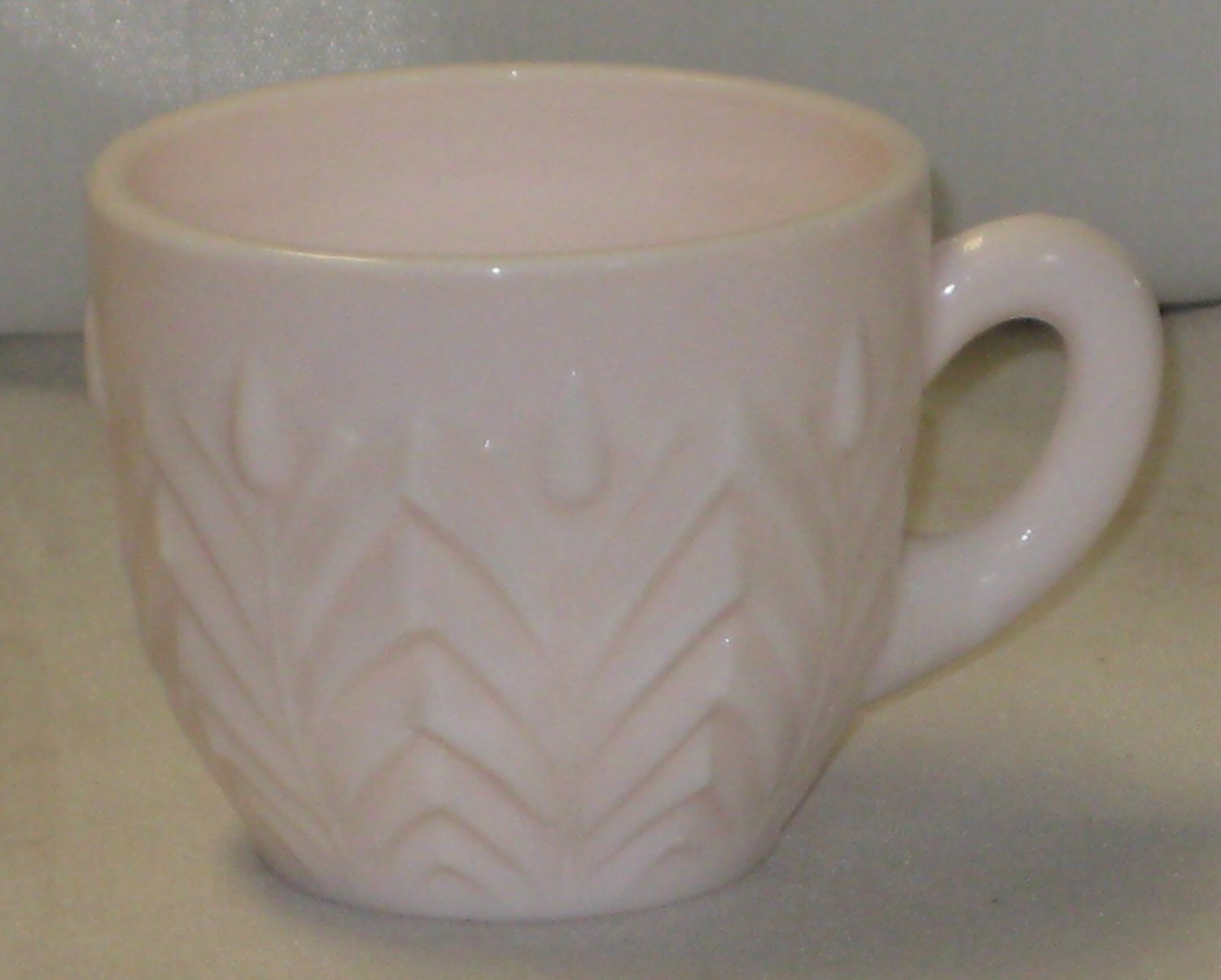 Jeanette Milk Glass Shell Pink Punch Cup