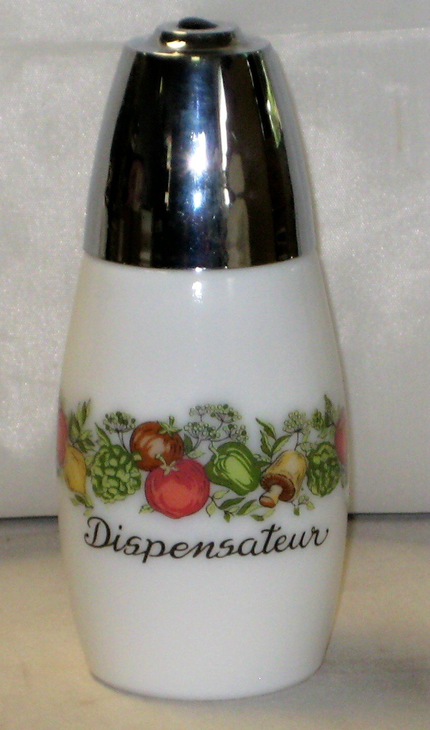 Gemco Corning Ware Spice Of Life Sugar Shaker Dispensateur