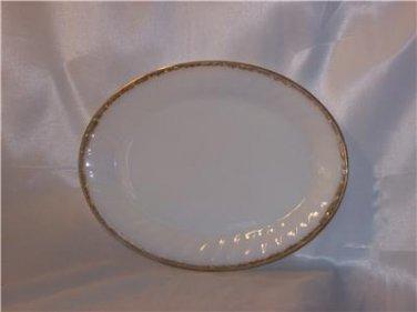 Fire-King Swirl pattern Golden Anniversary 22k Trimmed Platter