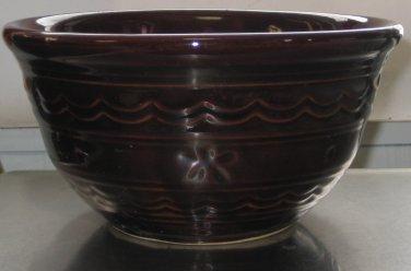 "Mar-Crest McCoy Pottery Stoneware Daisy Dot 7"" Mixing Bowl"