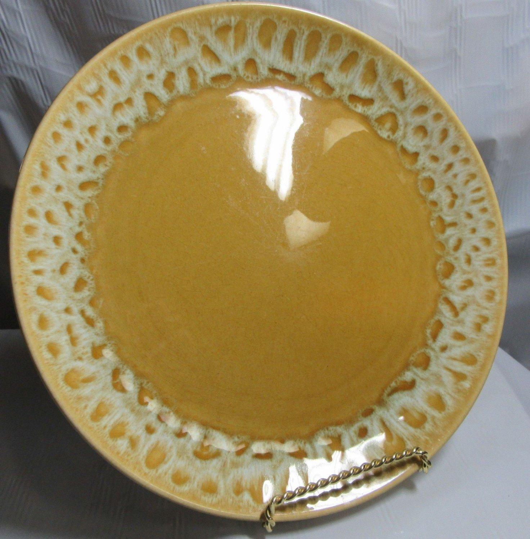Canonsburg pottery butterscotch dinner plate 1967 10 across for Brick oven stoneware jardin bleu