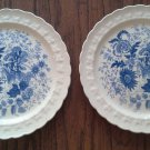 Taylor, Smith & T (TS&T) Center Bouquet Blue (Garland Shape) Dinner Plates 10""