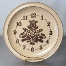 Pfaltzgraff Village Brown Beige Plate Face Clock NO CLOCK