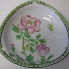 TRICO China NAGOYA Japan Hand Decorated Triangle Hanging Dish Pink Flowers