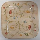 """HOME china AMERICAN SIMPLICITY FLORAL pattern DINNER PLATE Square 11-1/4"""""""